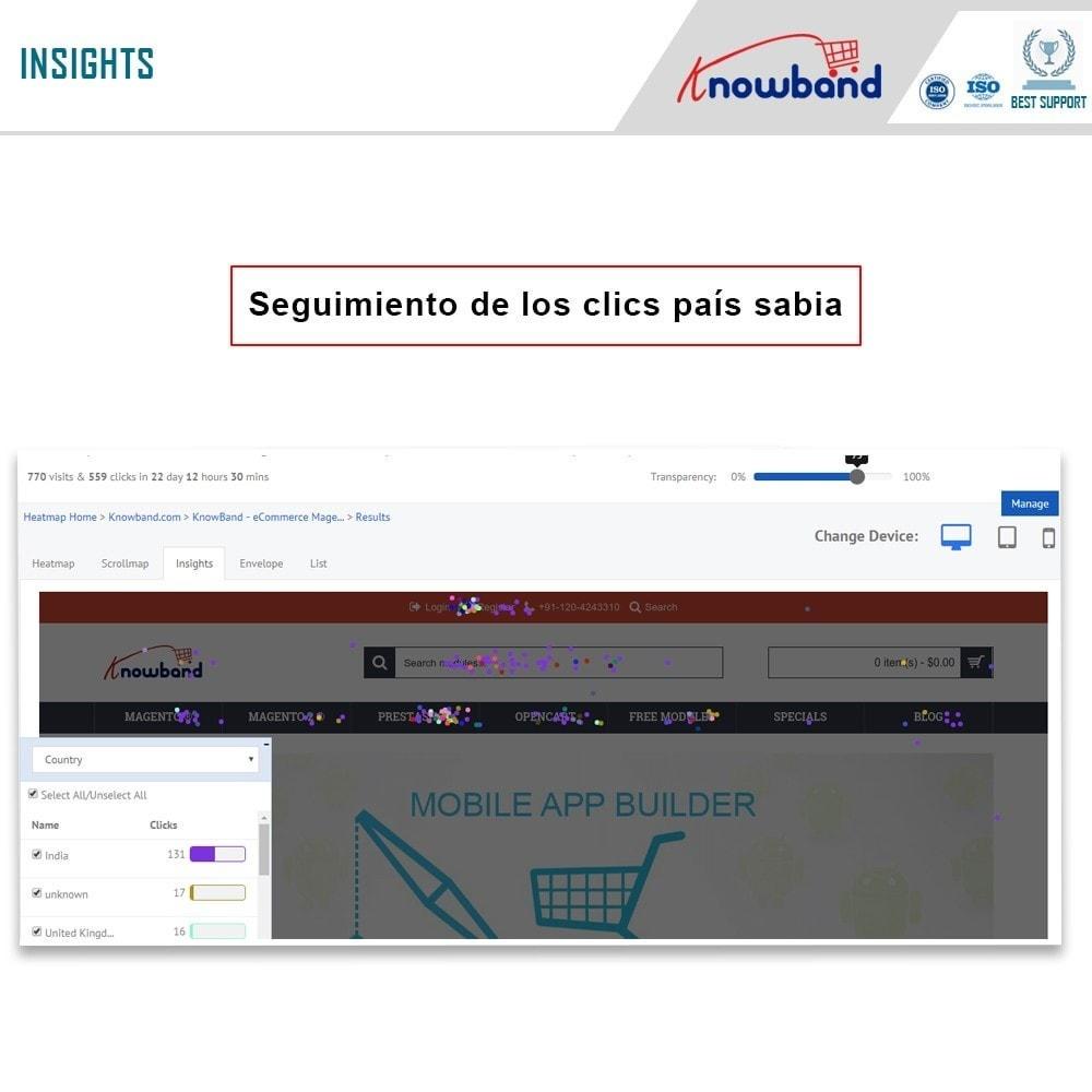 module - Informes y Estadísticas - Knowband - MockingFish, Heatmap y pruebas A / B - 3
