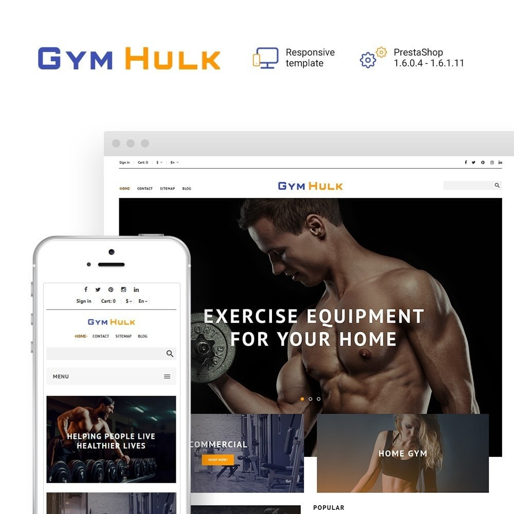 theme - Desporto, Actividades & Viagens - GymHulk - Gym Equipment - 1