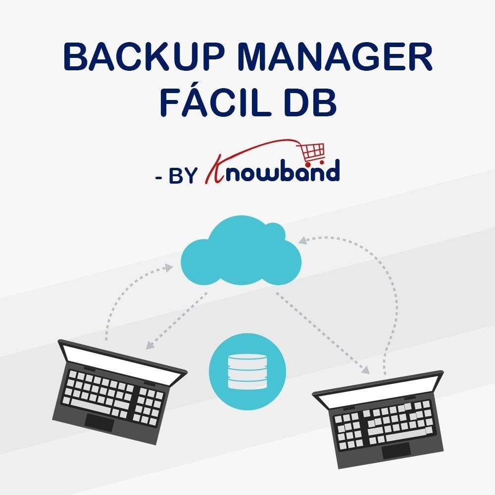 module - Migración y Copias de seguridad - Knowband - Administrador de copia de seguridad EasyDB - 1