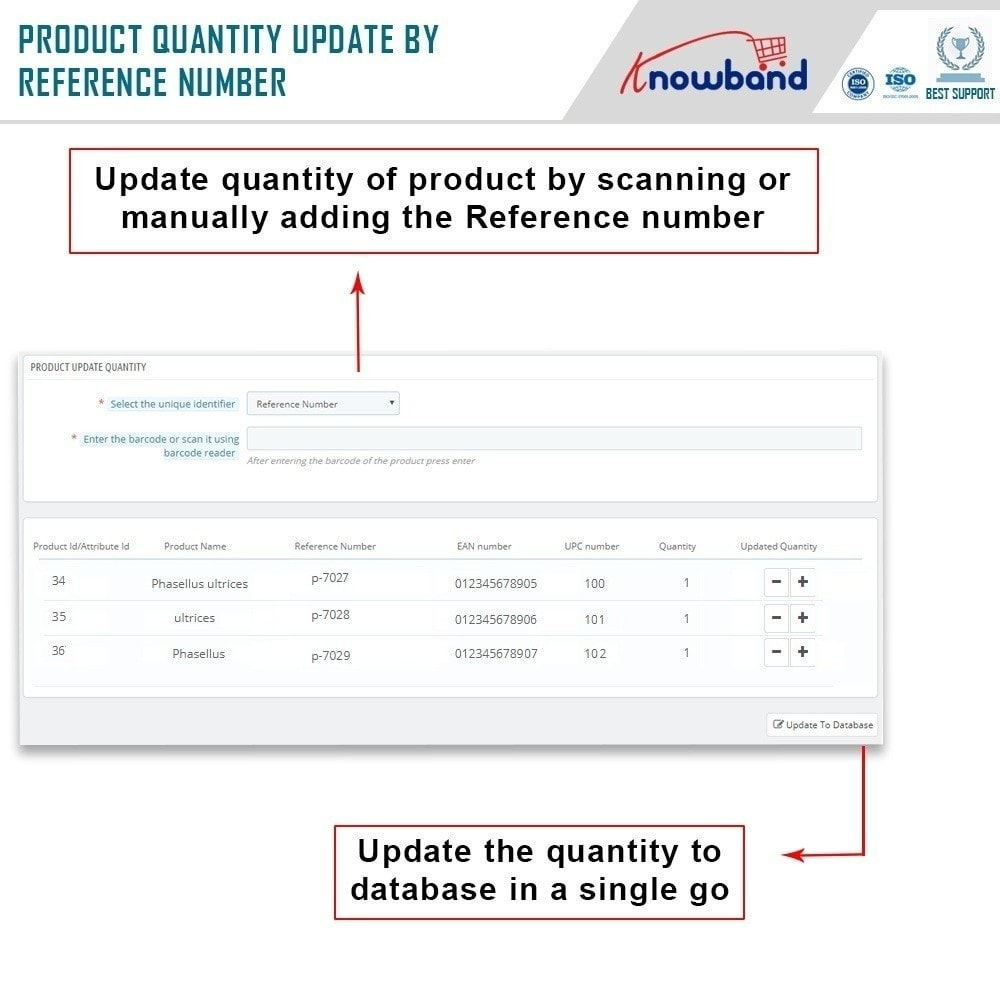module - Snelle & seriematige bewerking - Knowband  - Product Update With Scanner - 3