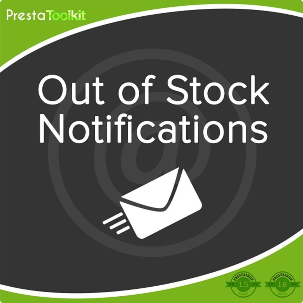 module - E-mails y Notificaciones - Notificación Fuera de Stock - 1