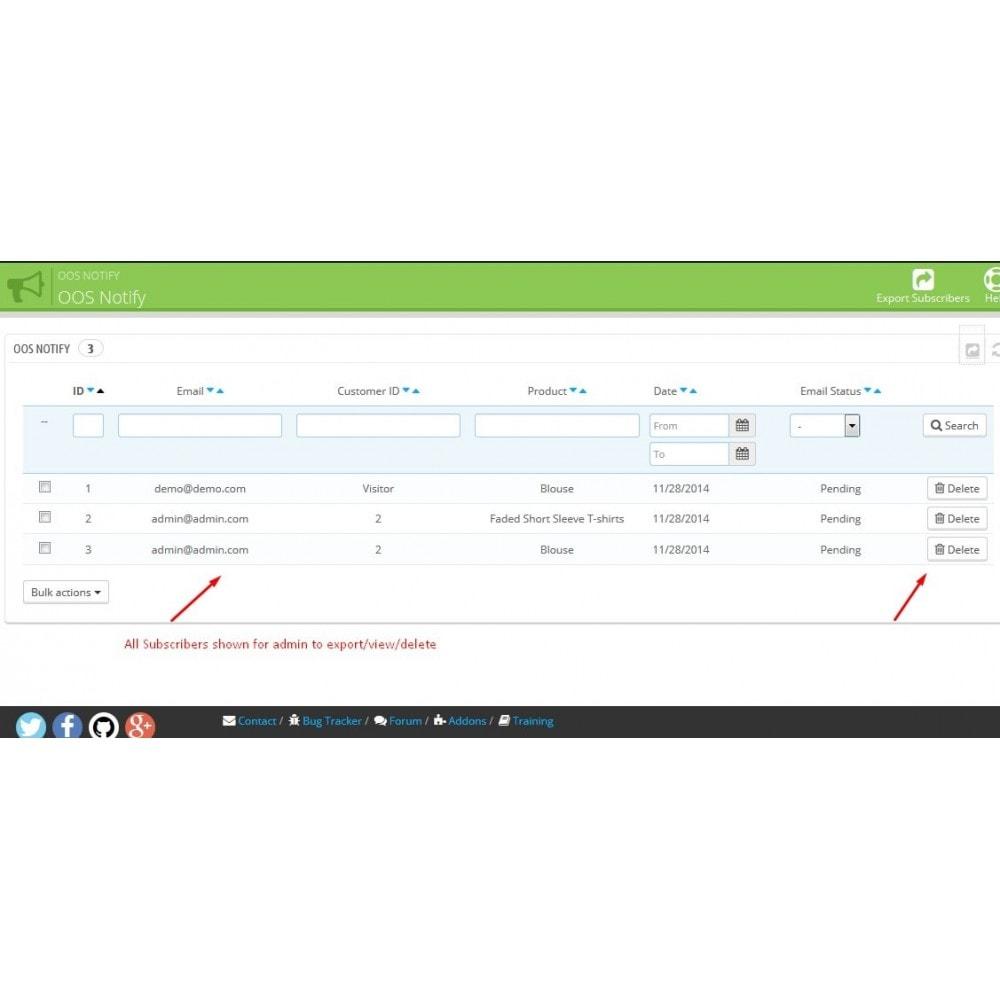 module - E-mails y Notificaciones - Notificación Fuera de Stock - 7