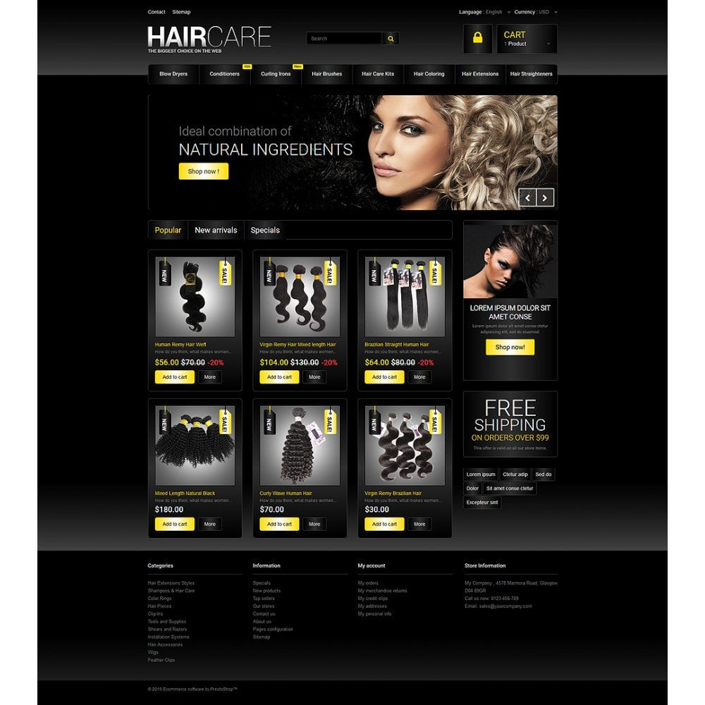 theme - Fashion & Shoes - Hair Studio - 2
