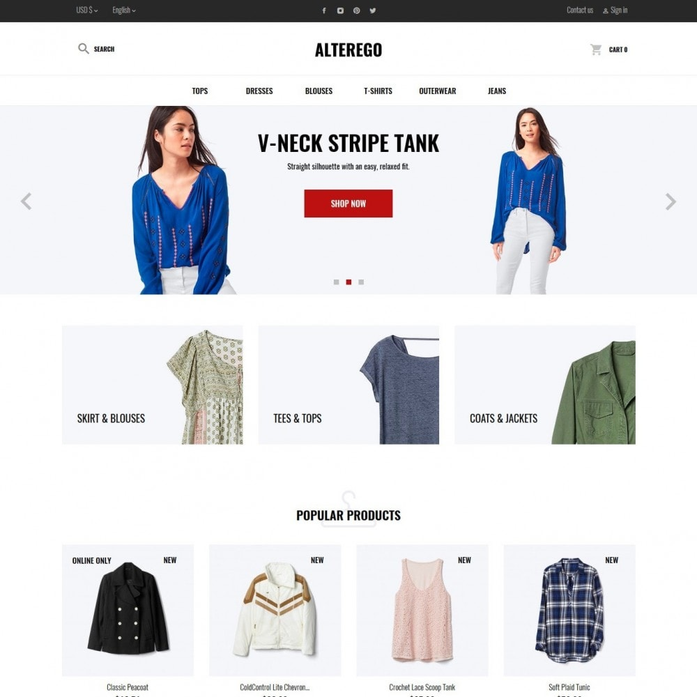 theme - Мода и обувь - Alterego Fashion Store - 2