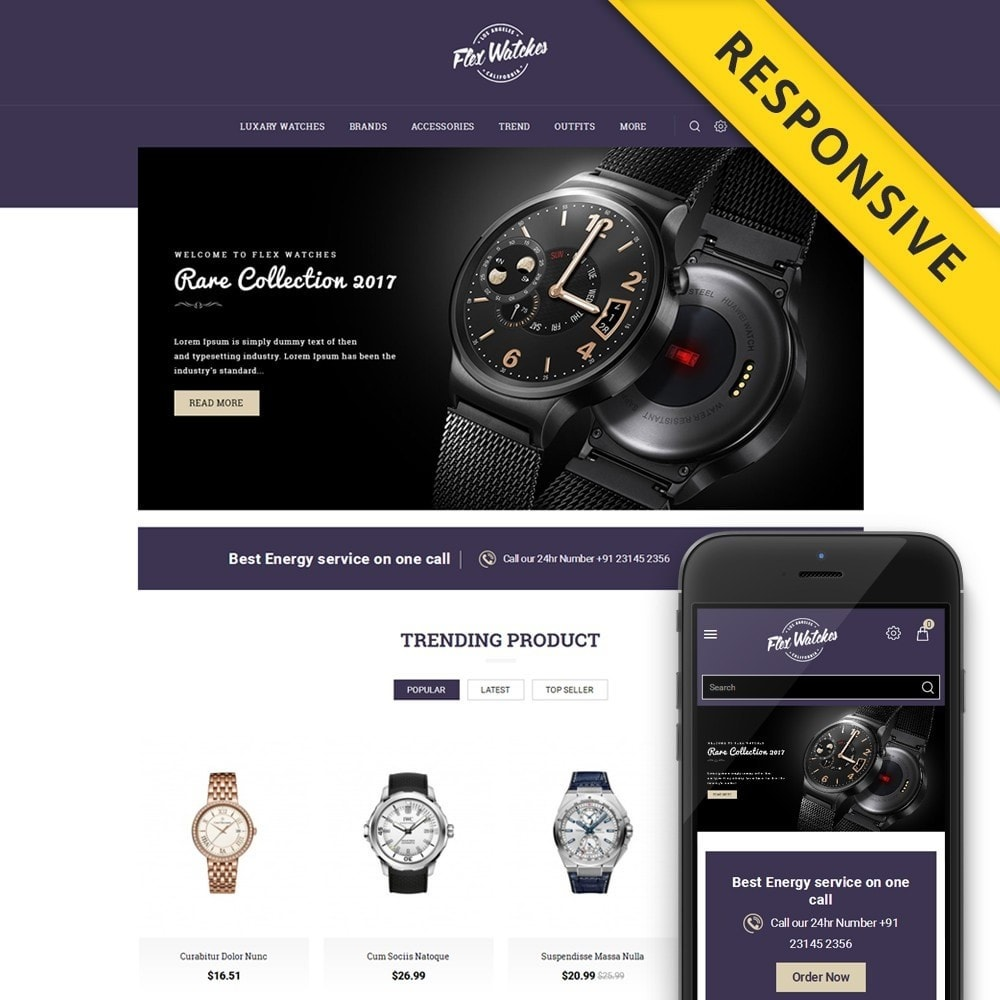 theme - Jewelry & Accessories - Flex Watches Store - 1