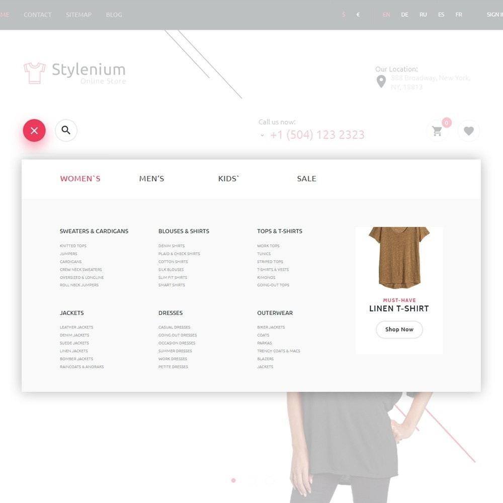 theme - Mode & Chaussures - Stylenium - Boutique de mode thème PrestaShop adaptatif - 3
