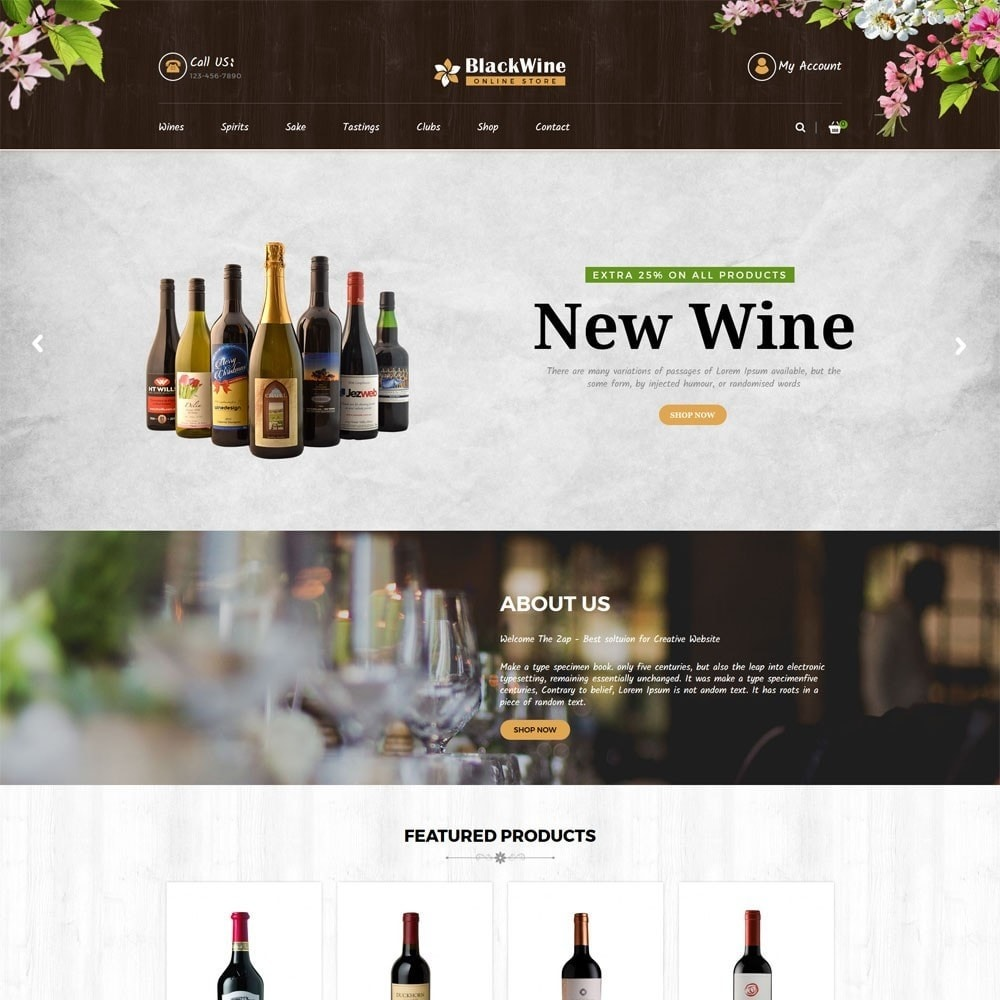theme - Template PrestaShop - Wine Stores - 2