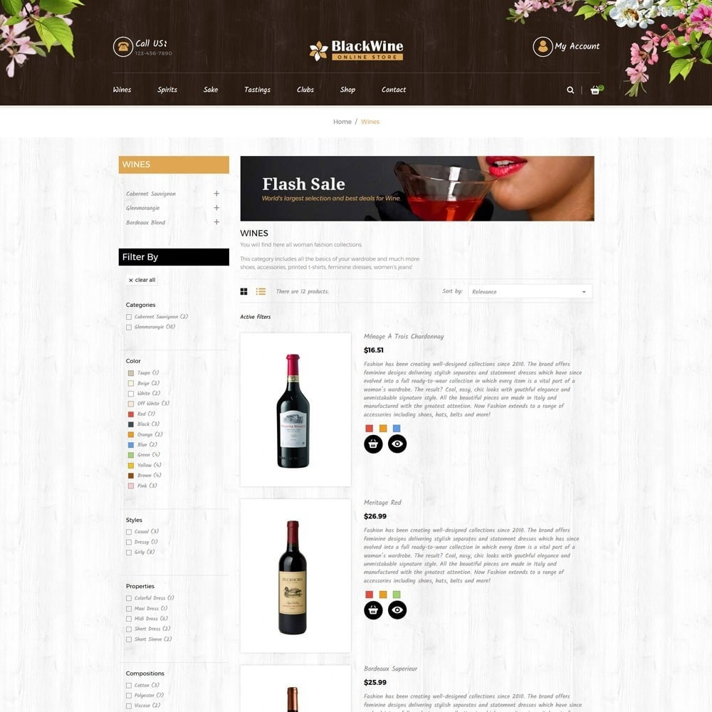 theme - Template PrestaShop - Wine Stores - 3