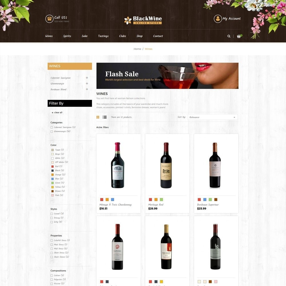 theme - Template PrestaShop - Wine Stores - 4