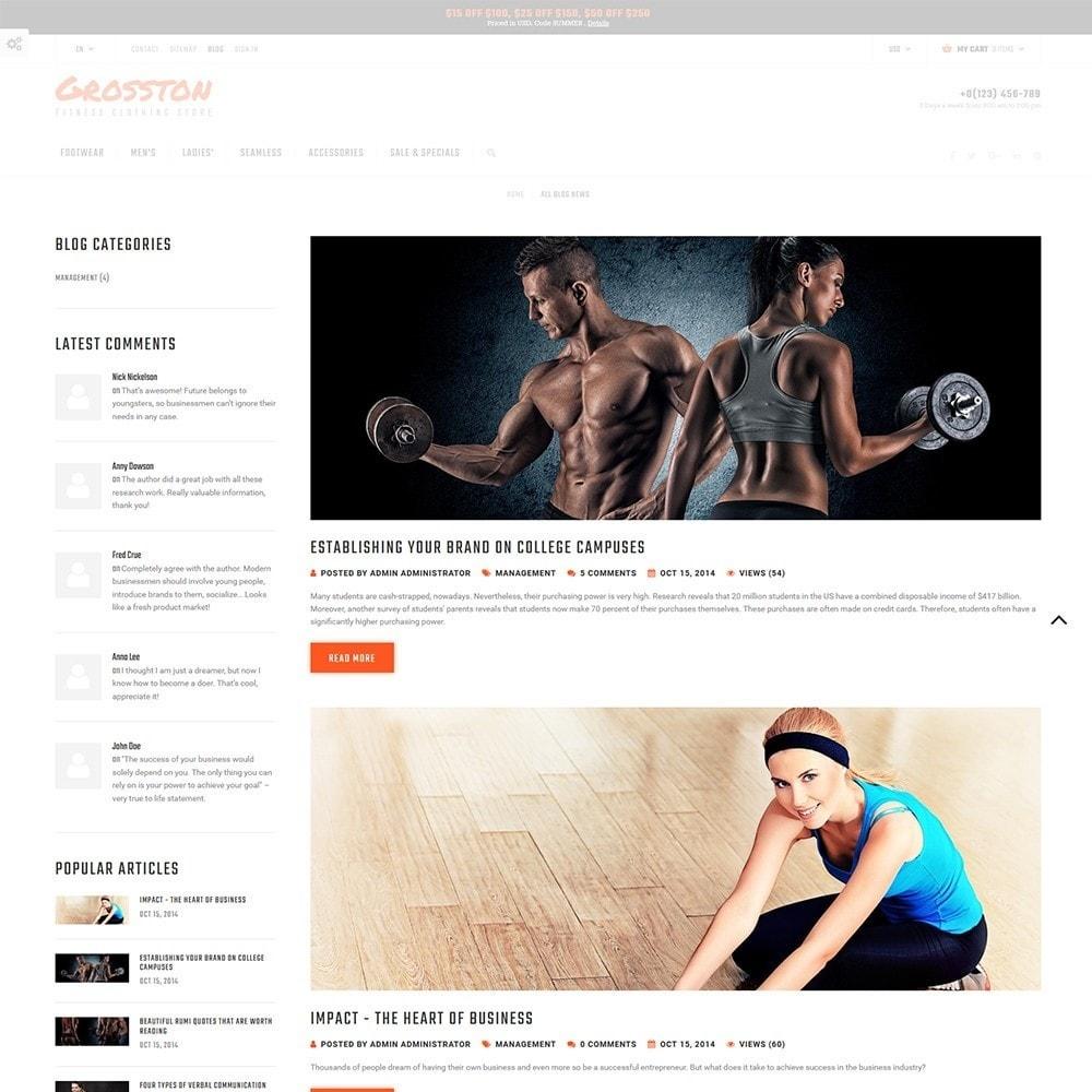 theme - Спорт и Путешествия - Crosston - PrestaShop шаблон спортивных тваров - 5