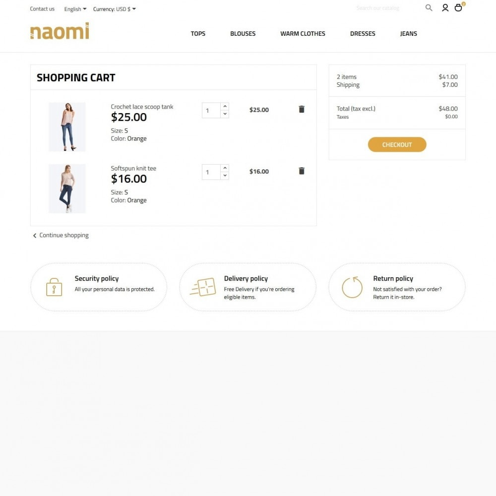 theme - Mode & Chaussures - Naomi Fashion Store - 6