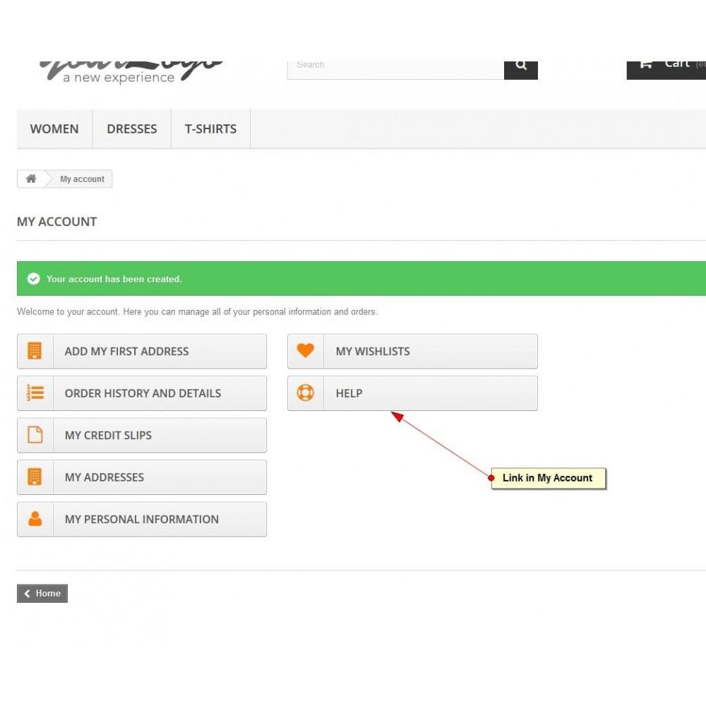 module - Support & Chat Online - Service d'assistance, Gestion de support - 9