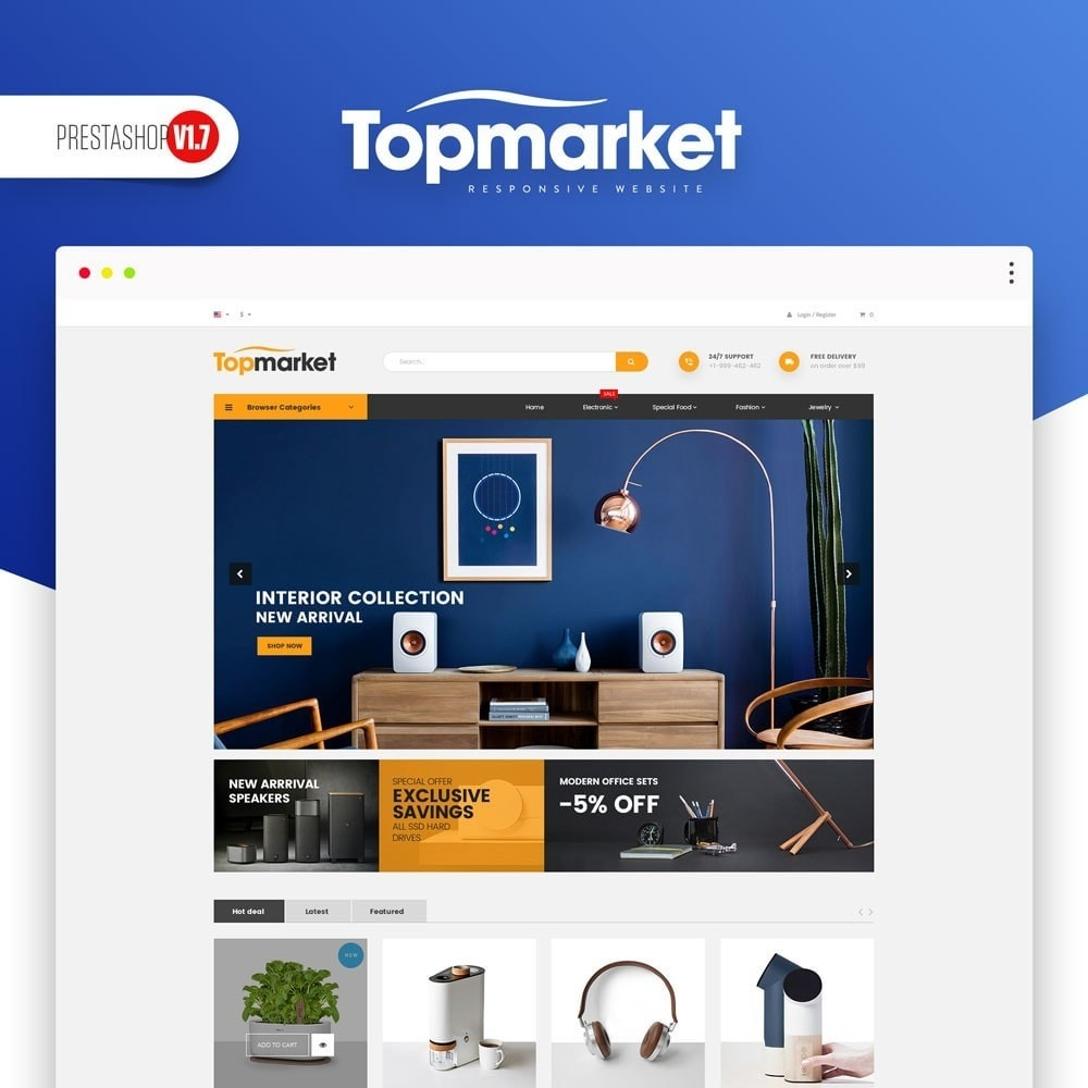 theme - Elektronica & High Tech - TopMarket Store - 1
