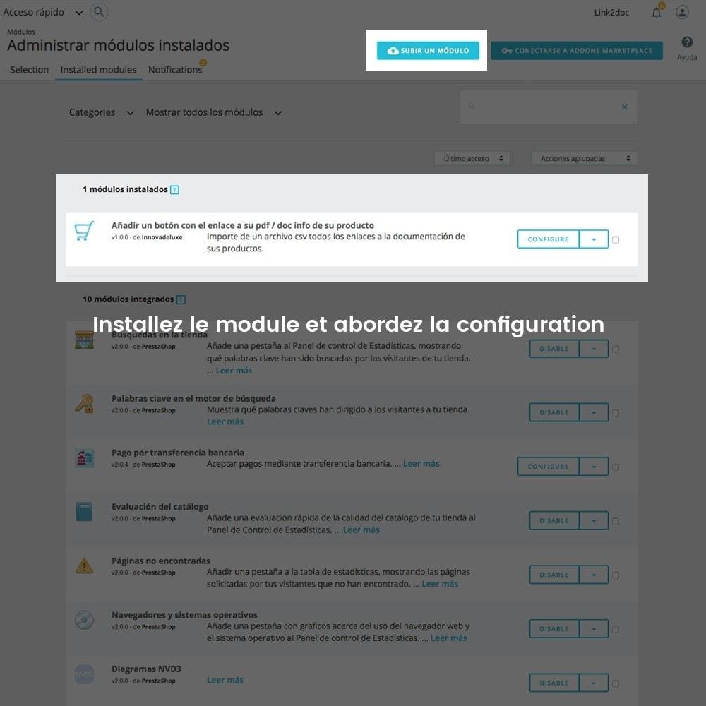 module - Import & Export de données - Relier les fichiers de documentation dans fiche produit - 2