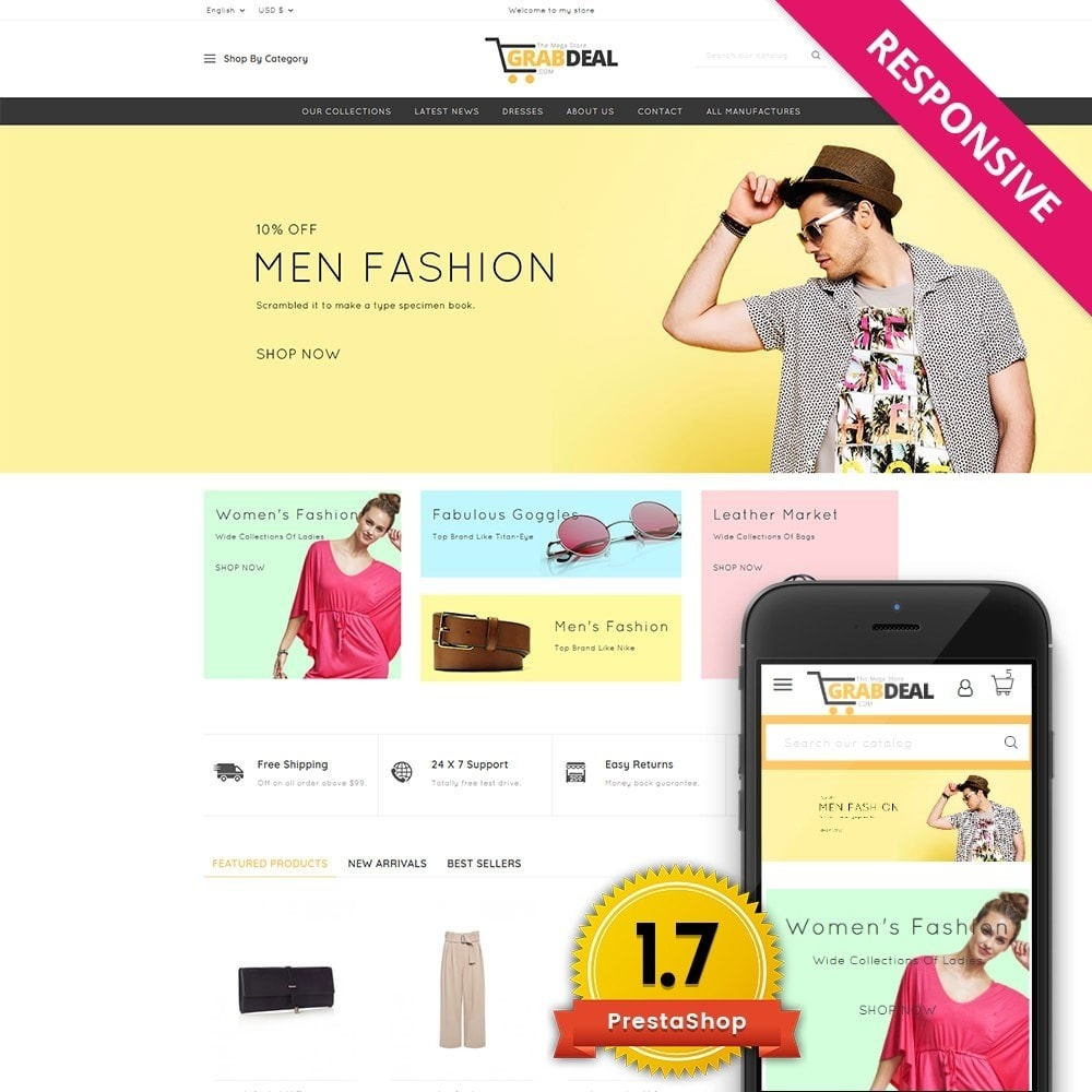 theme - Мода и обувь - Grabdeal - The Fashion Store - 1