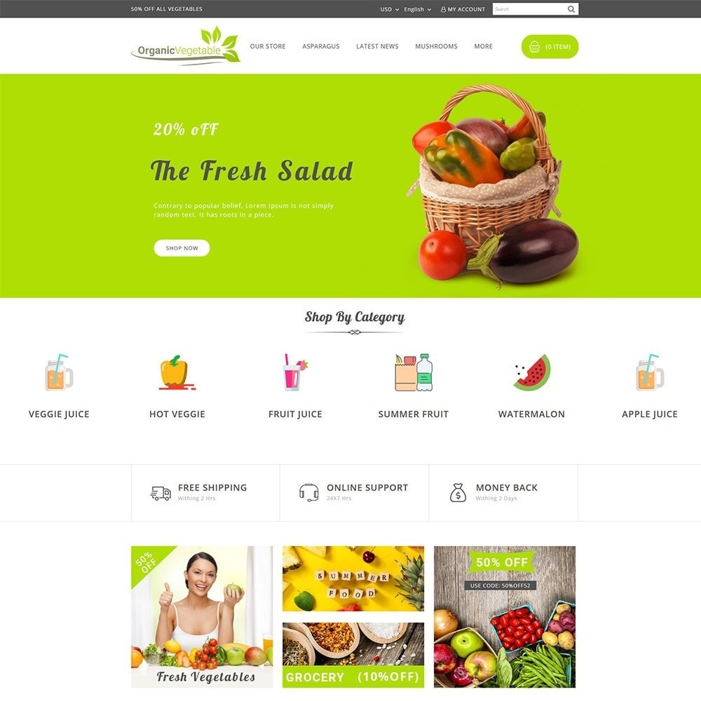 theme - Food & Restaurant - Organic Vegetable Store - 2