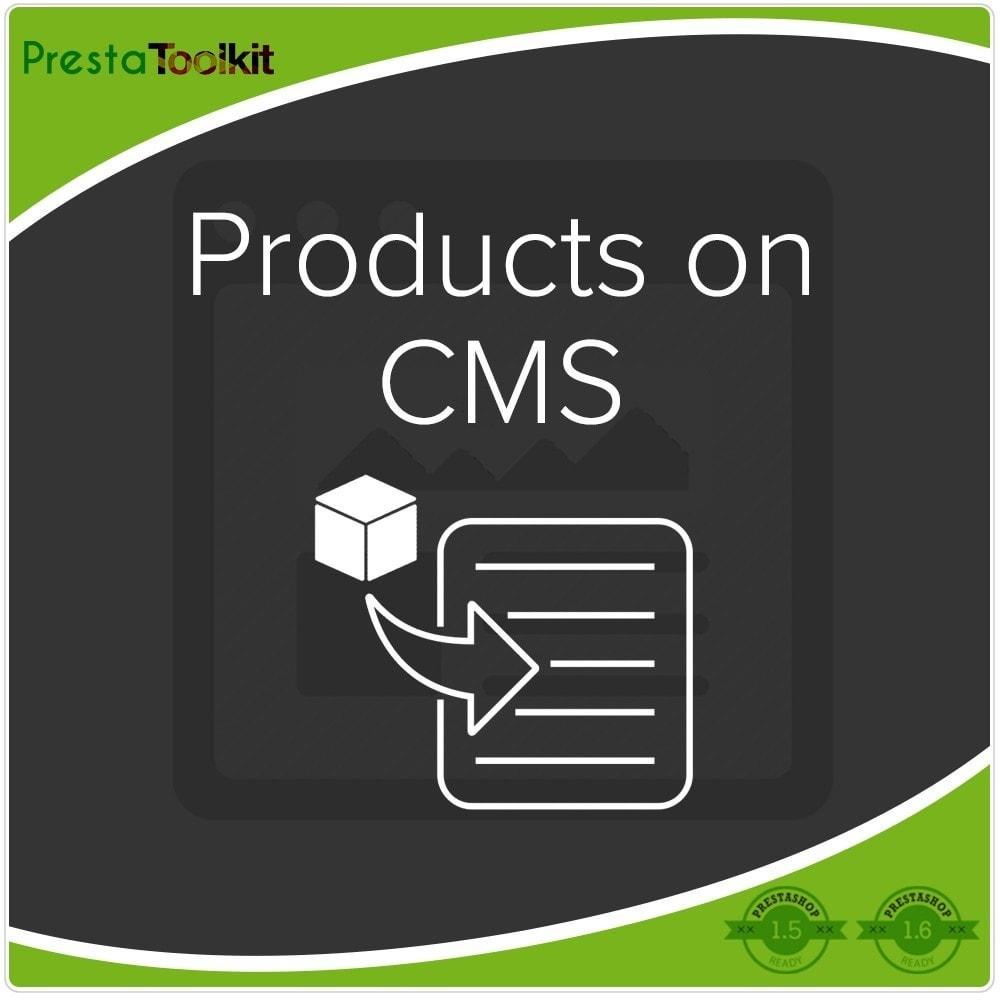 module - Produits en page d'accueil - Produits sur CMS - 1