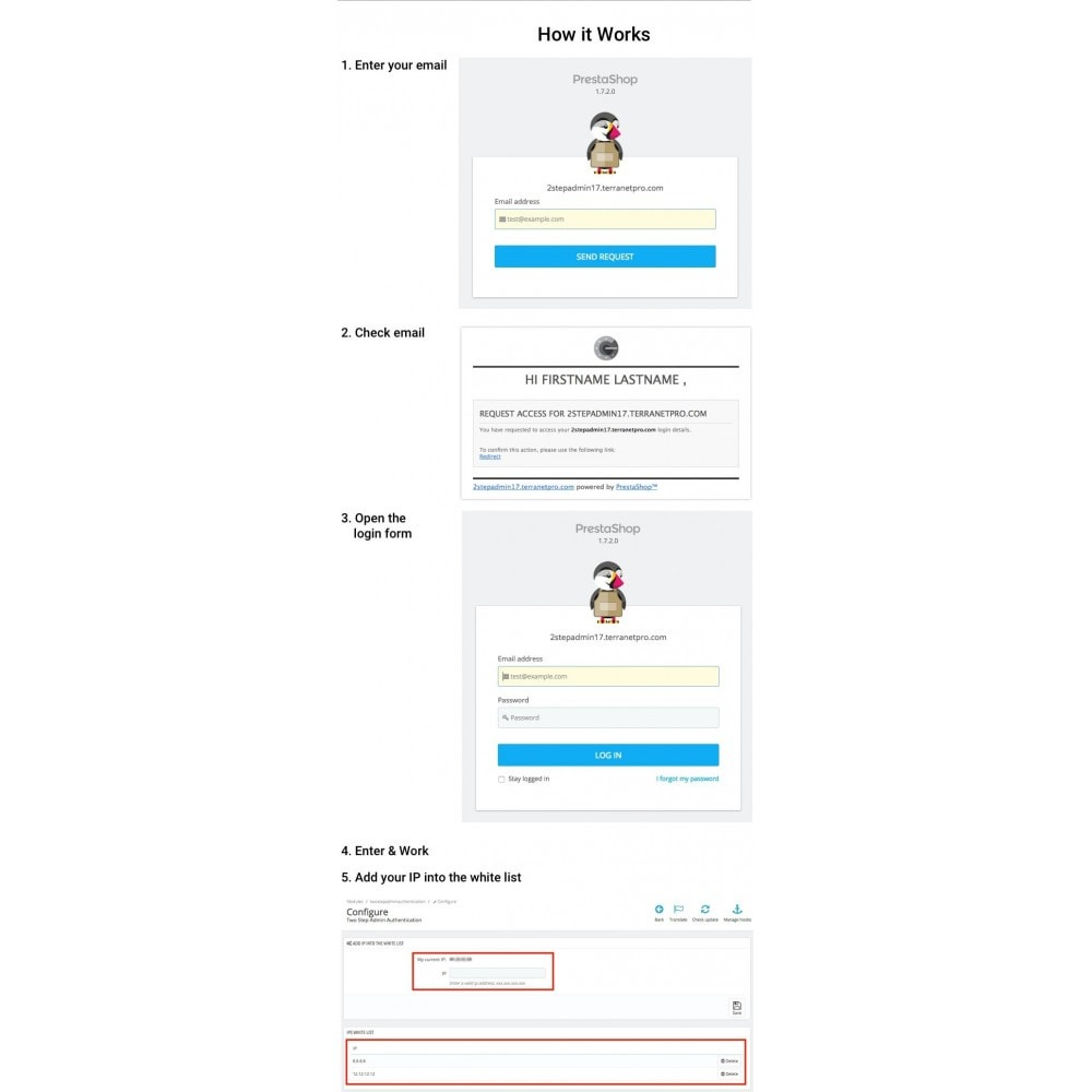 module - Przyciski do logowania  & Connect - Two Step Admin Authentication - 1