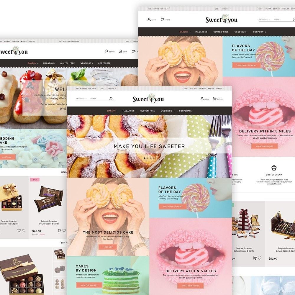 theme - Продовольствие и рестораны - Sweet4you - шаблон по продаже сладостей - 3
