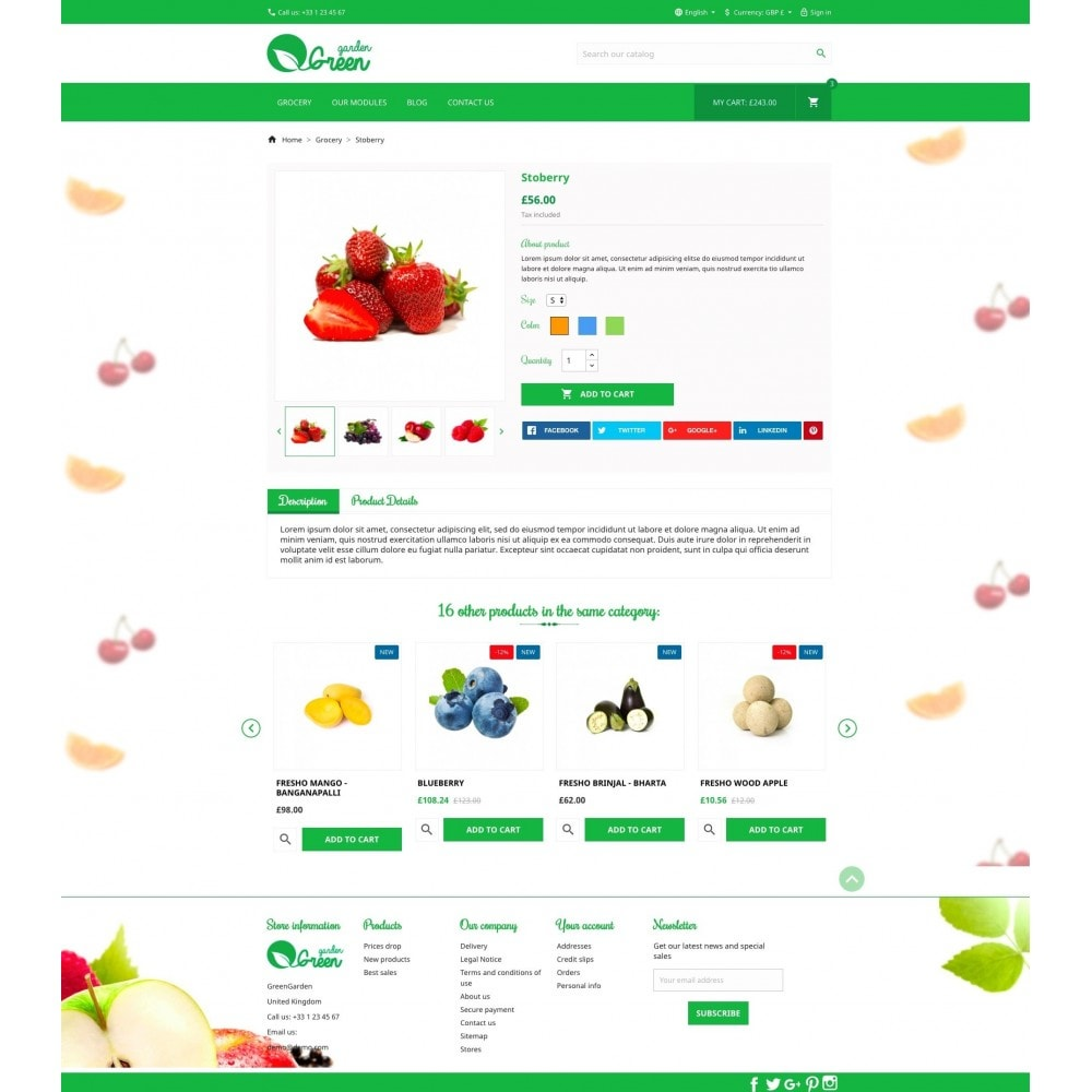 theme - Alimentation & Restauration - Green Garden - 6