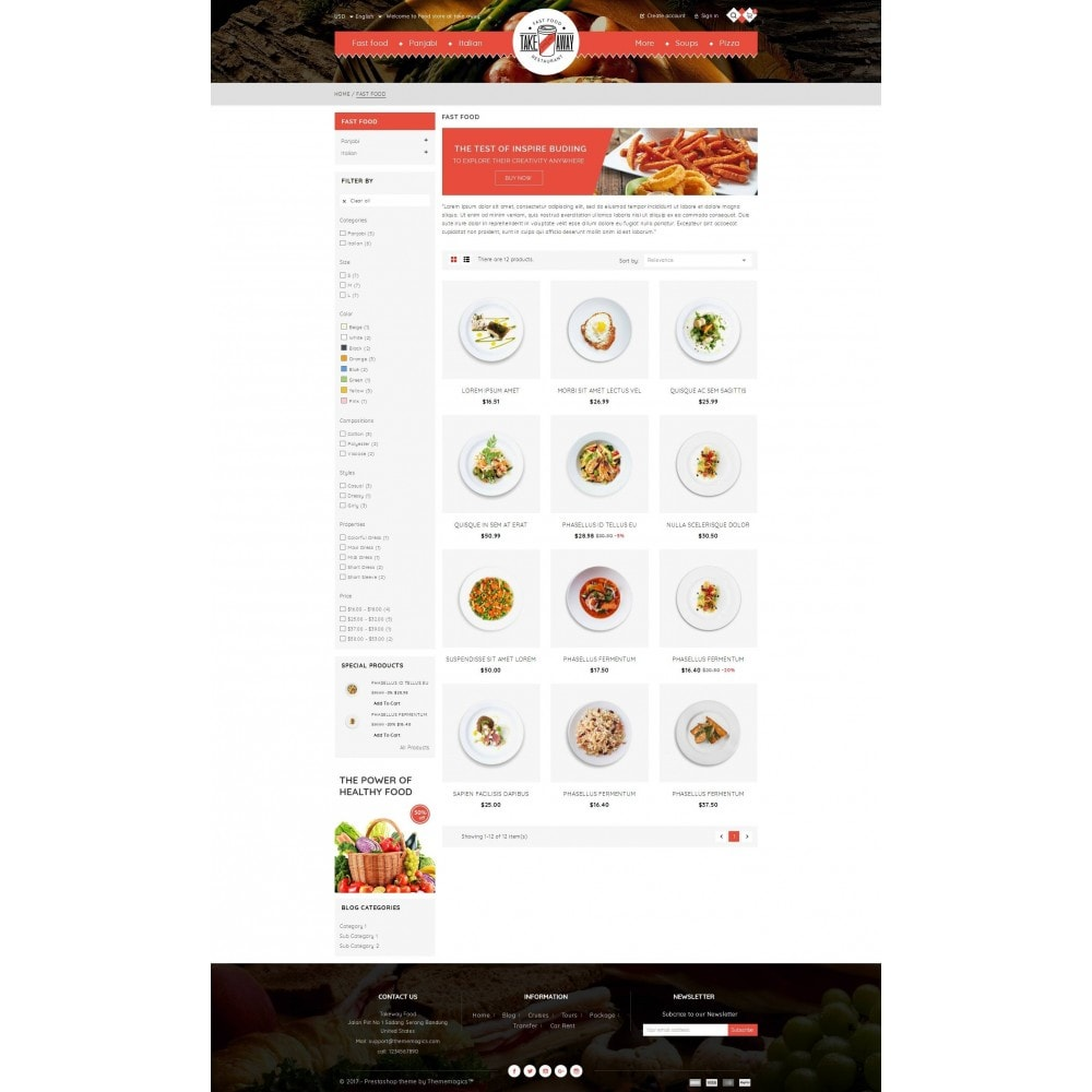 theme - Lebensmittel & Restaurants - Takeaway - Online Restaurant - 3