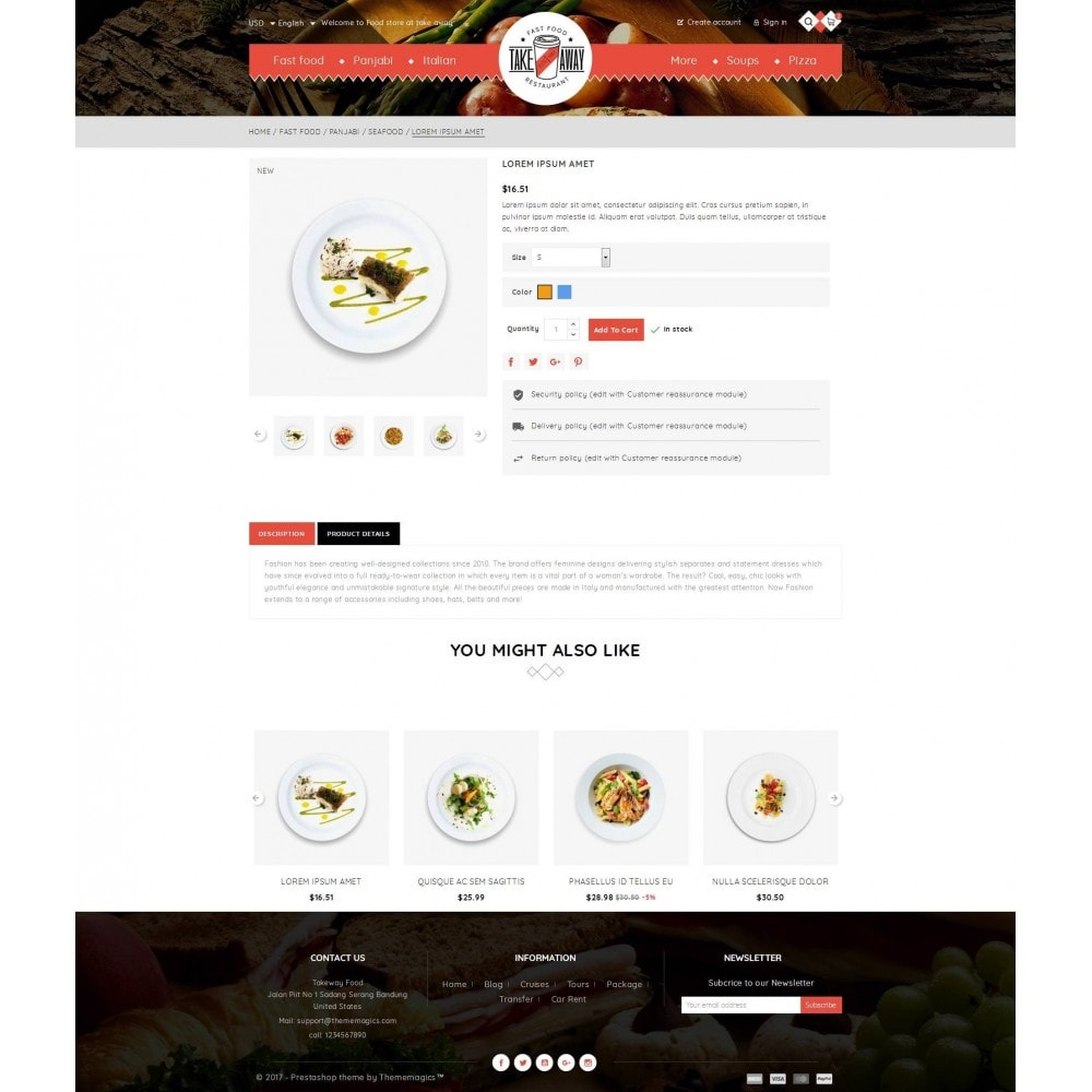 theme - Lebensmittel & Restaurants - Takeaway - Online Restaurant - 5