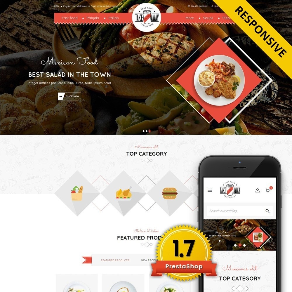 theme - Lebensmittel & Restaurants - Takeaway - Online Restaurant - 1