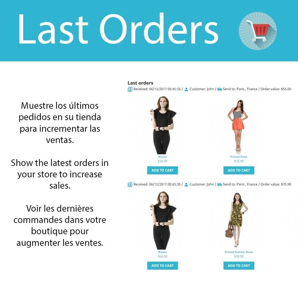 module - Ventas cruzadas y Packs de productos - Last Orders - Mostrar pedidos recientes - 1