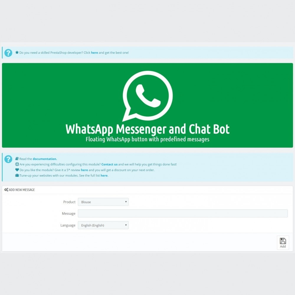 module - Suporte & Chat on-line - WhatsApp Messenger and Chat Bot - 5
