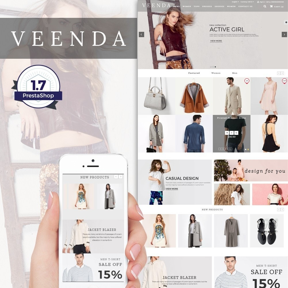 theme - Мода и обувь - Veenda Fashion Shop - 1