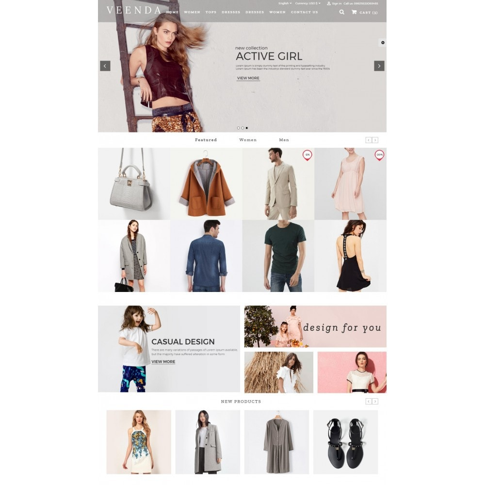 theme - Fashion & Shoes - Veenda Fashion Shop - 2