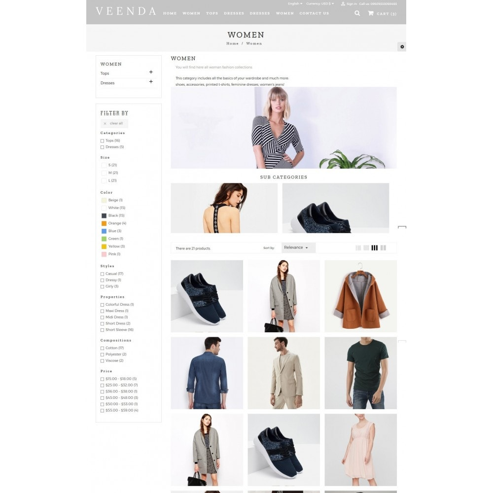 theme - Мода и обувь - Veenda Fashion Shop - 4