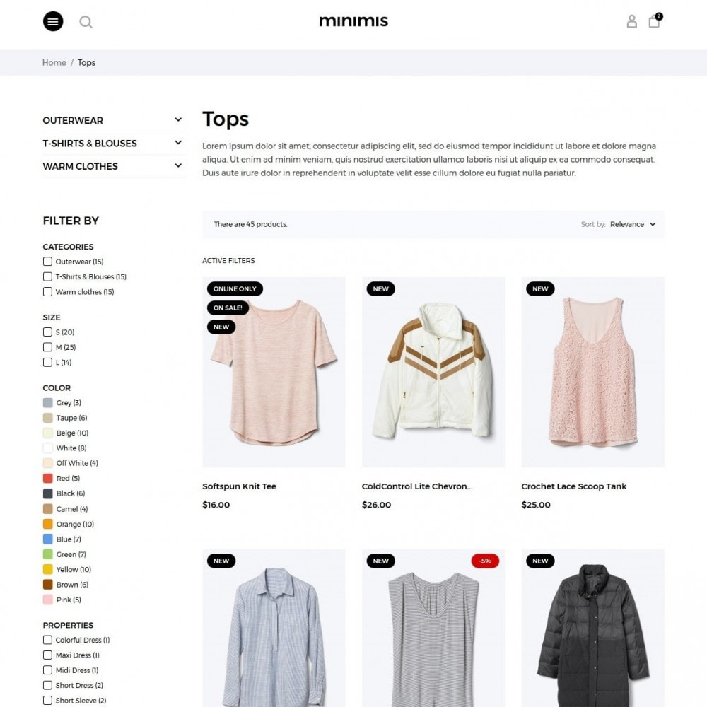 theme - Moda & Calzature - Minimis Fashion Store - 5