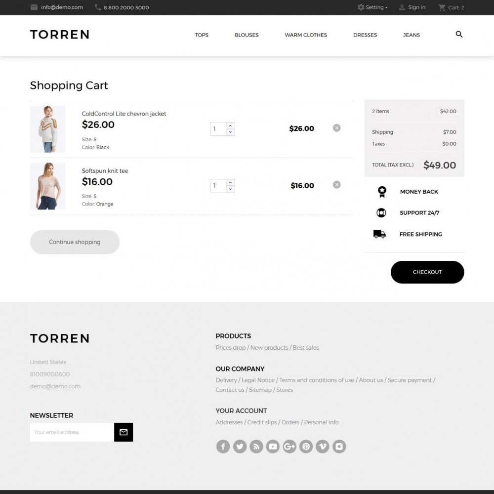 theme - Mode & Chaussures - Torren Fashion Store - 7