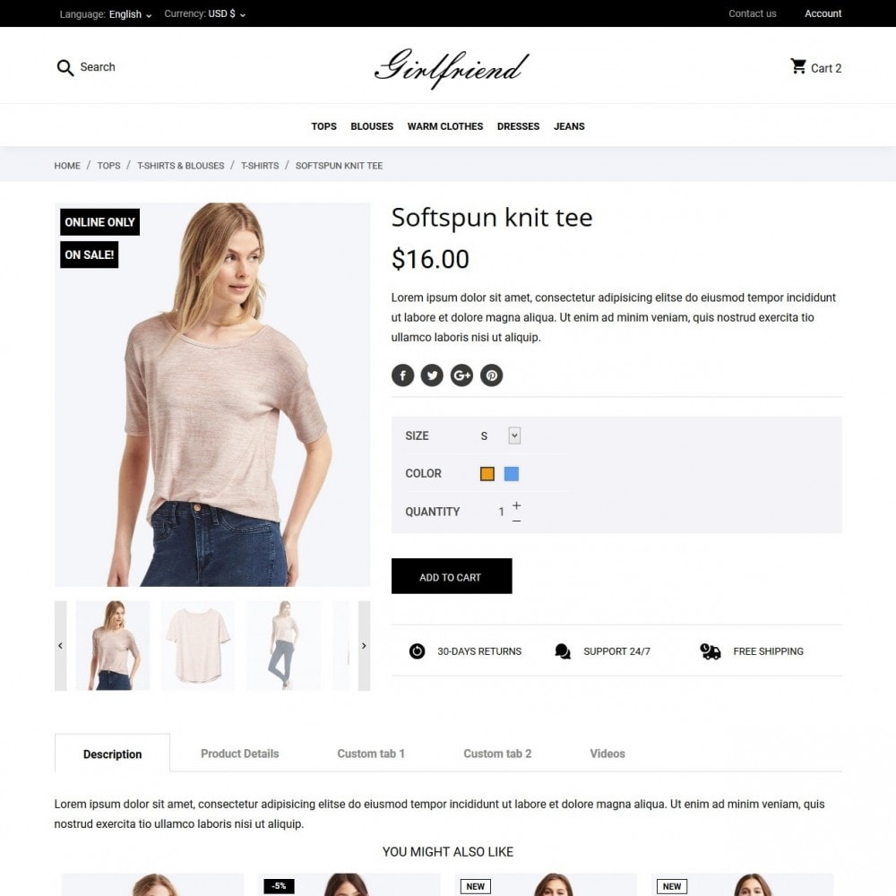 theme - Mode & Schoenen - Girlfriend Fashion Store - 6