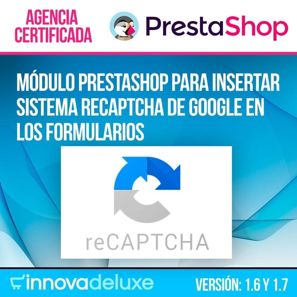 module - Seguridad y Accesos - Añadir Google reCAPTCHA a los formularios de la tienda - 1