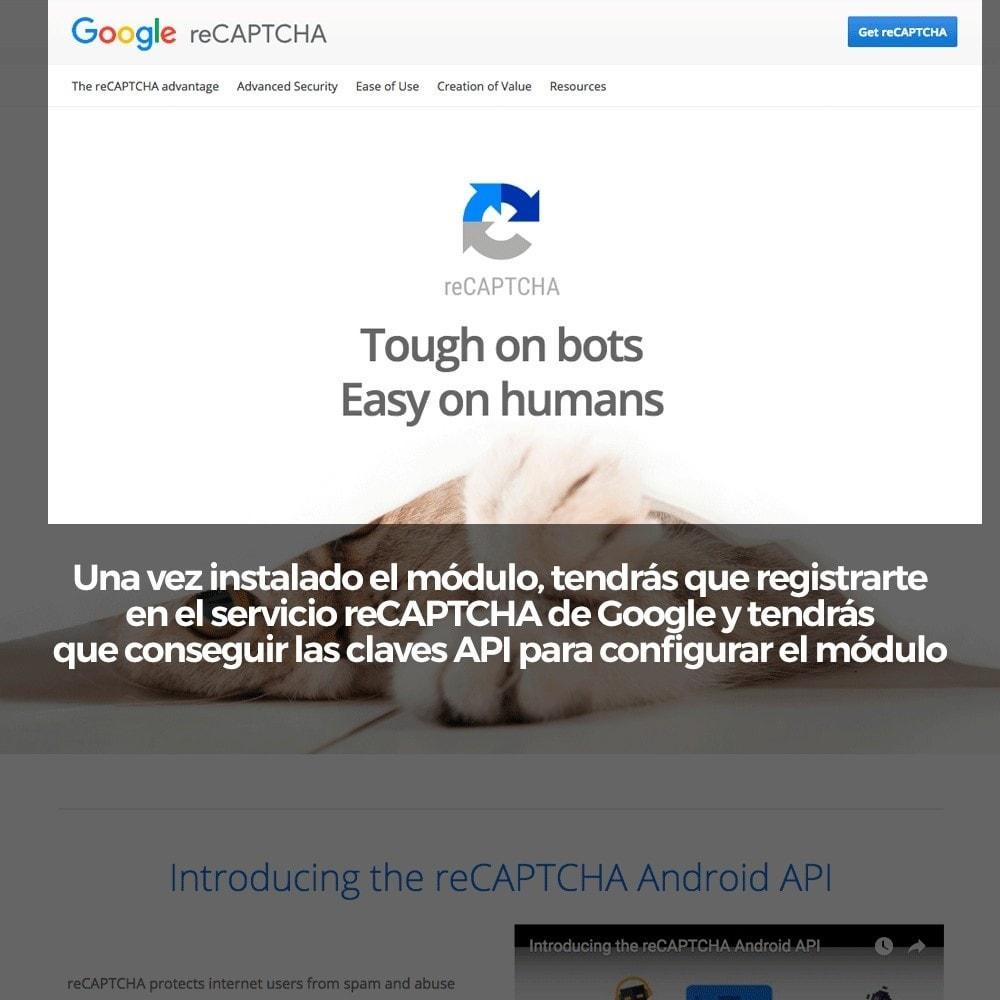 module - Seguridad y Accesos - Añadir Google reCAPTCHA a los formularios de la tienda - 3