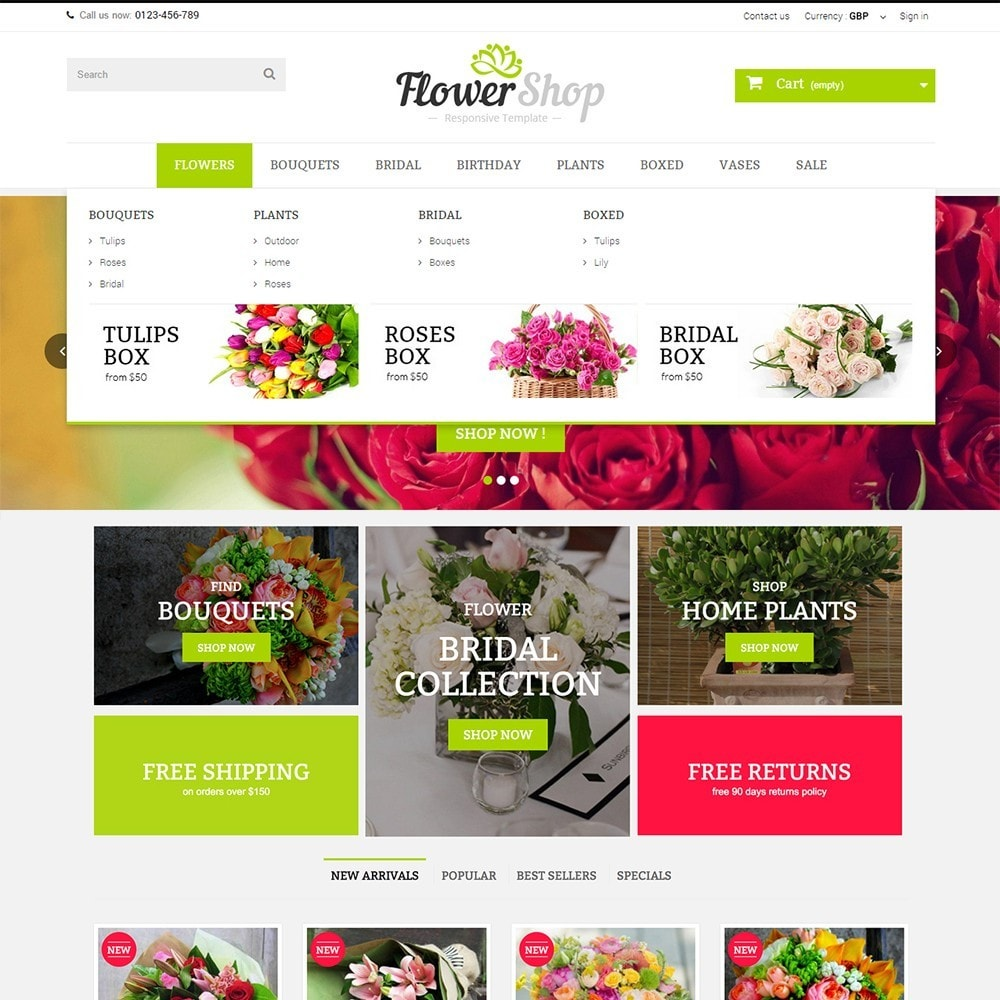 theme - Regalos, Flores y Celebraciones - FLOWER SHOP - 2