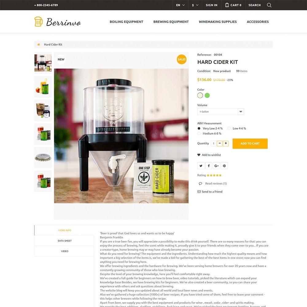 theme - Gastronomía y Restauración - Berrinvo - Sitio de Cervecería - 6