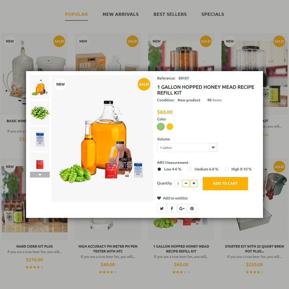 theme - Продовольствие и рестораны - Berrinvo - Адаптивный PrestaShop шаблон пивоварни - 5