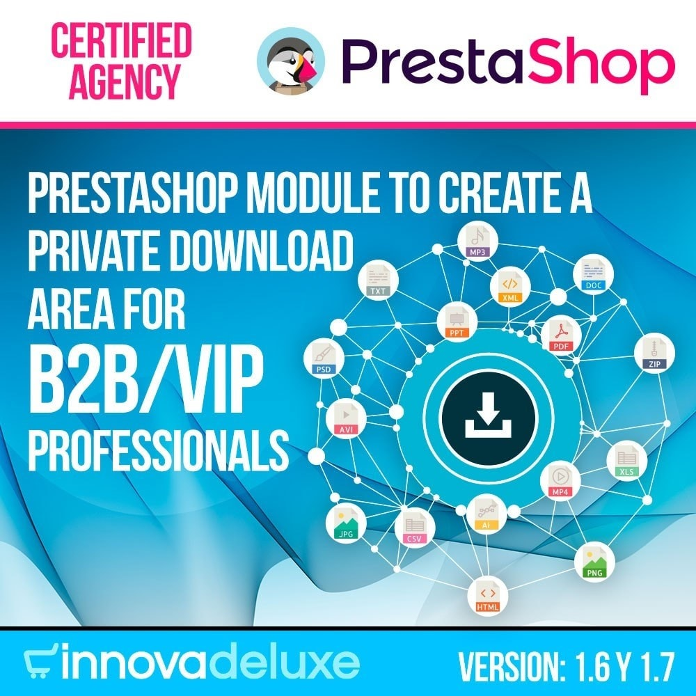 module - Produits virtuels (téléchargeables) - Private download zone for authorized customers - 1
