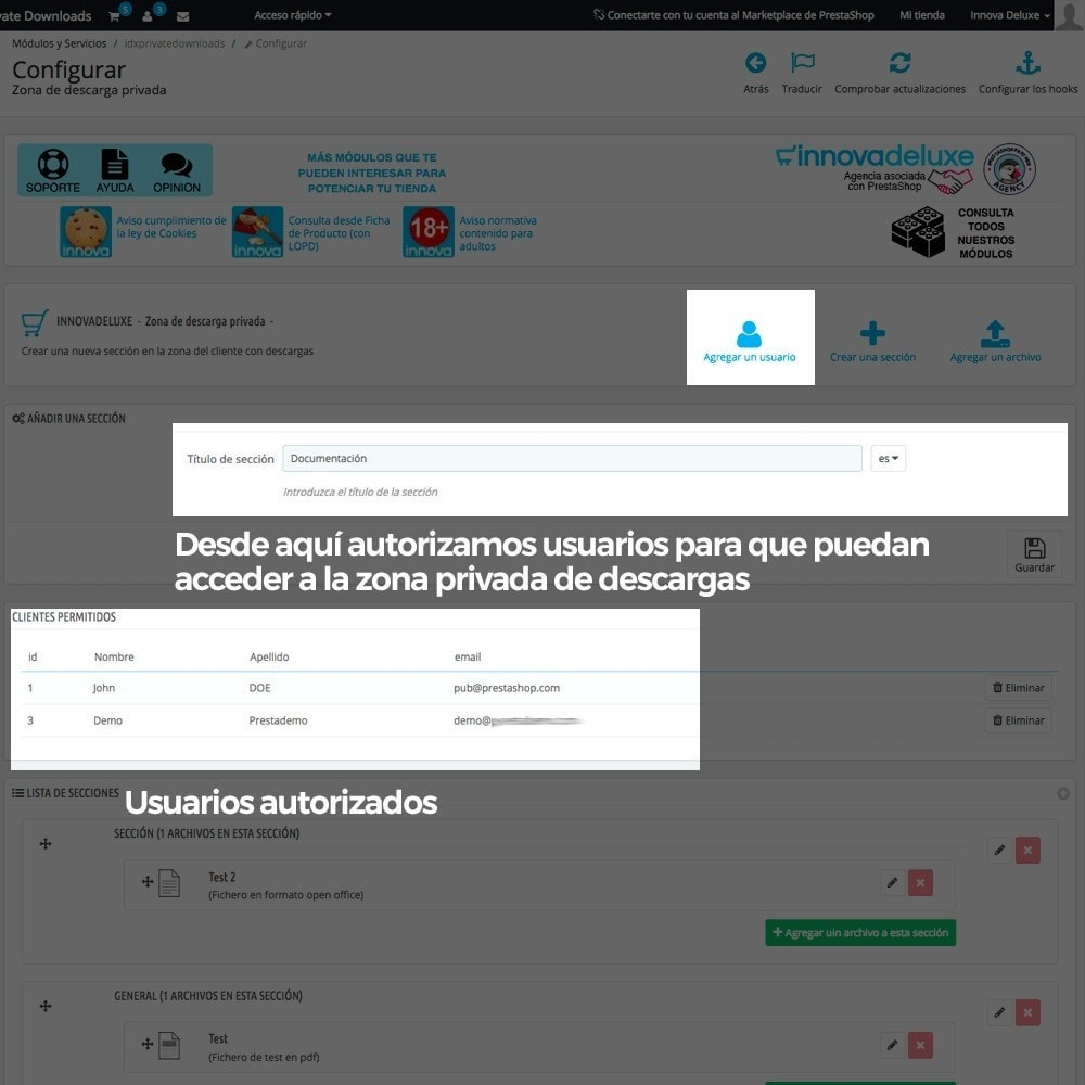 module - Productos Digitales (de descarga) - Zona privada de descargas para clientes autorizados - 4