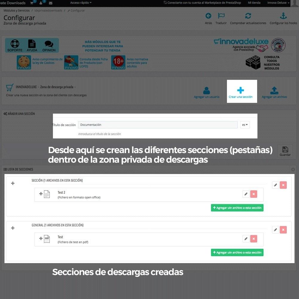 module - Productos Digitales (de descarga) - Zona privada de descargas para clientes autorizados - 5