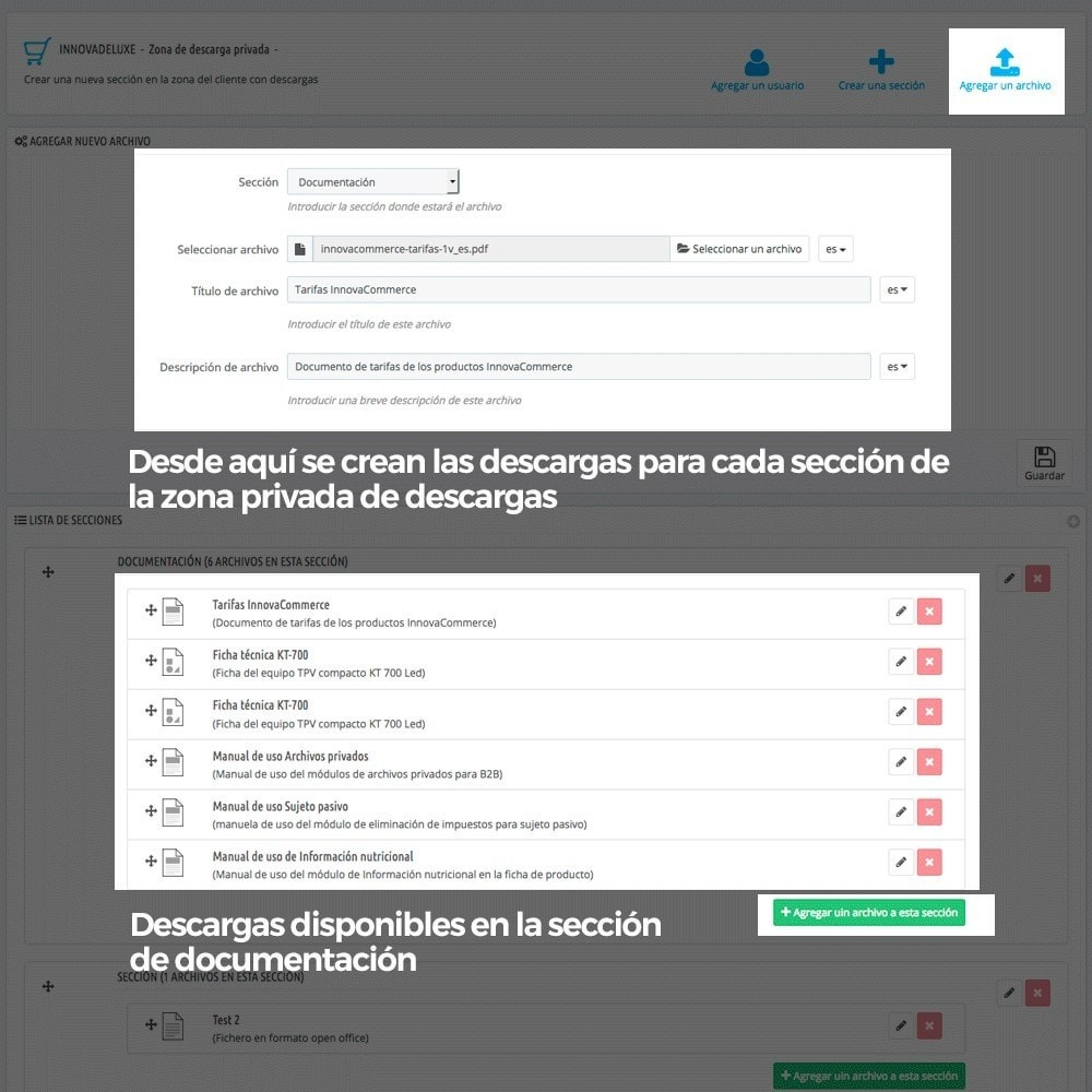 module - Productos Digitales (de descarga) - Zona privada de descargas para clientes autorizados - 6