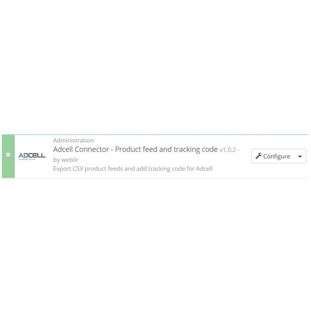 module - Соединение с внешней программой (CRM, ERP...) - Adcell Connector - Product feed and tracking code - 3