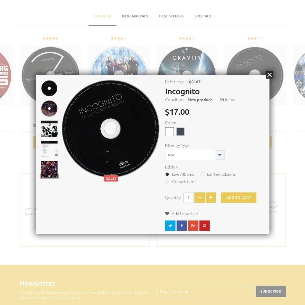 theme - Elettronica & High Tech - Melodyer - Negozio di CD Musicali Responsive - 3
