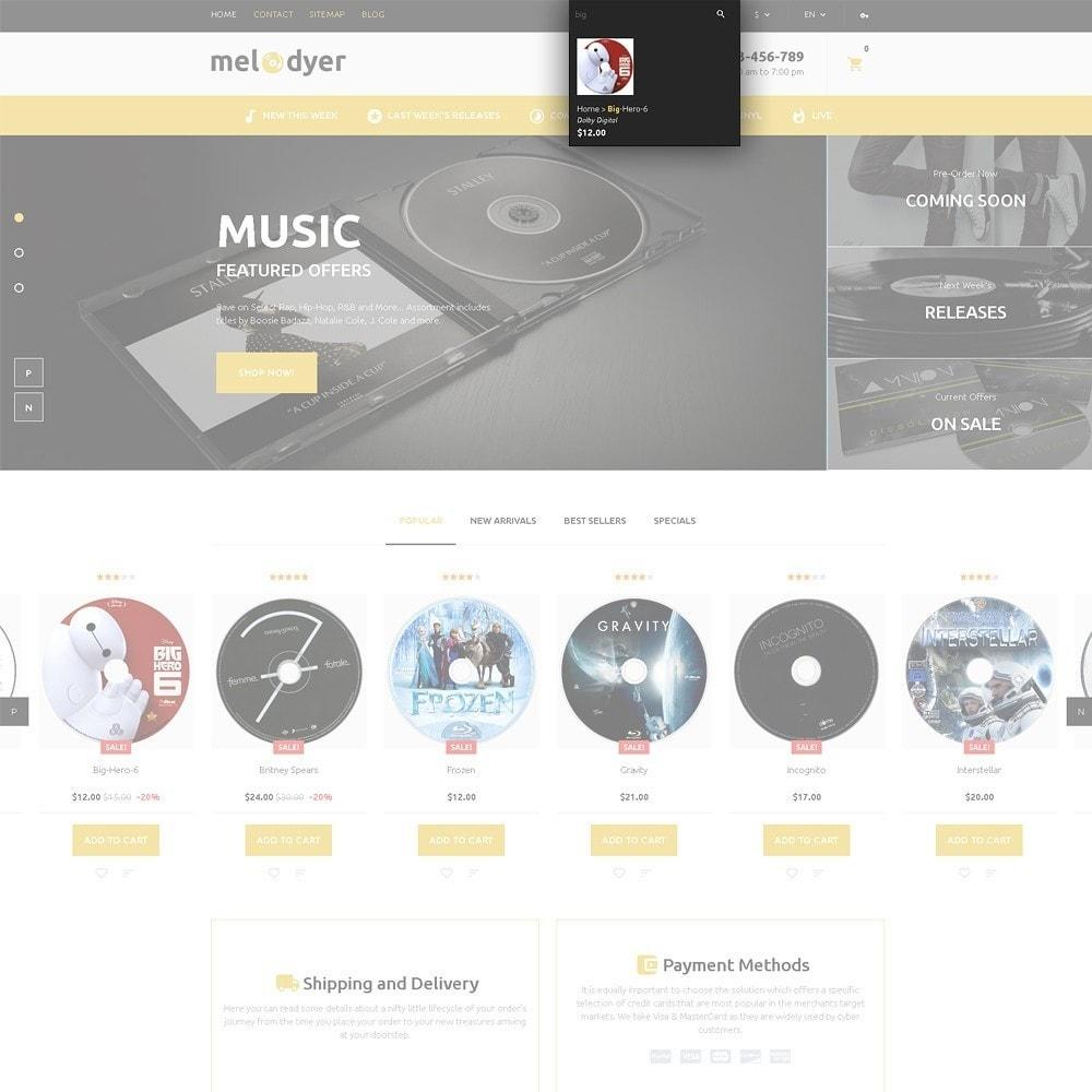 theme - Elettronica & High Tech - Melodyer - Negozio di CD Musicali Responsive - 5