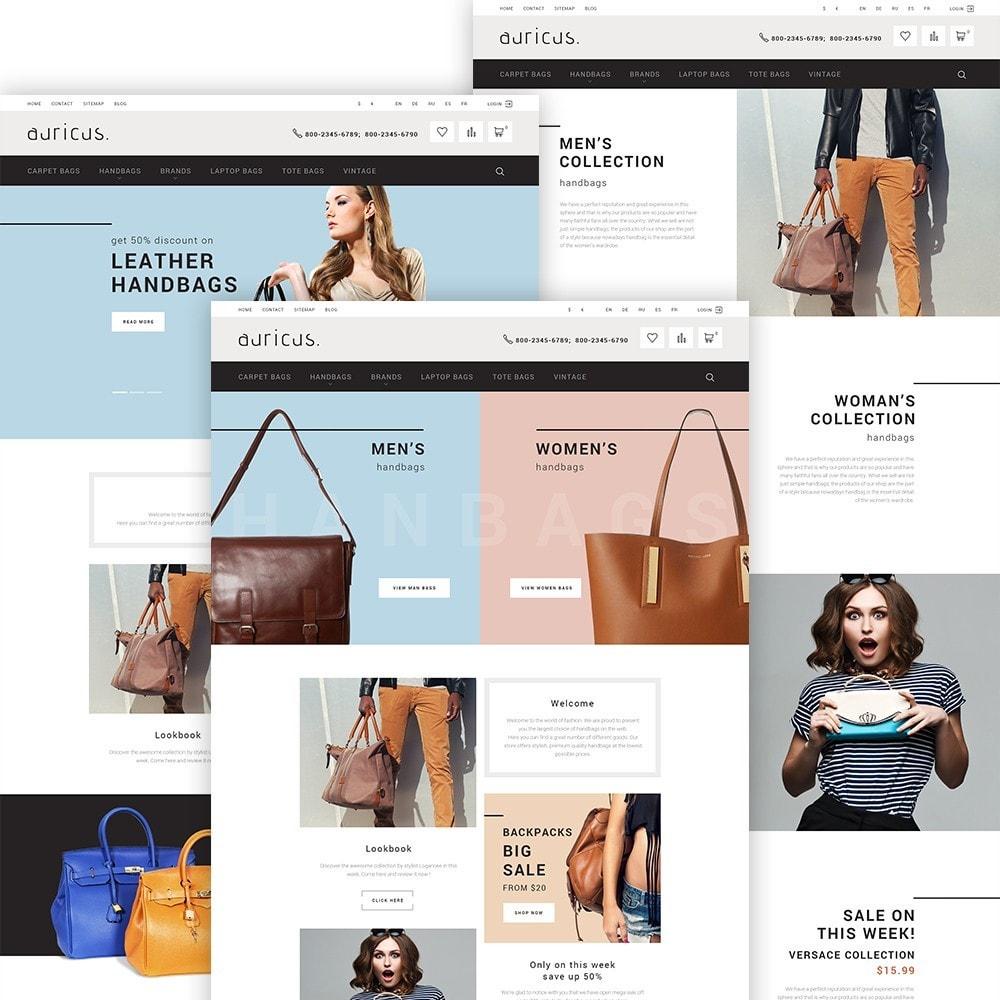 theme - Мода и обувь - Auricus - шаблон по продаже сумок - 2