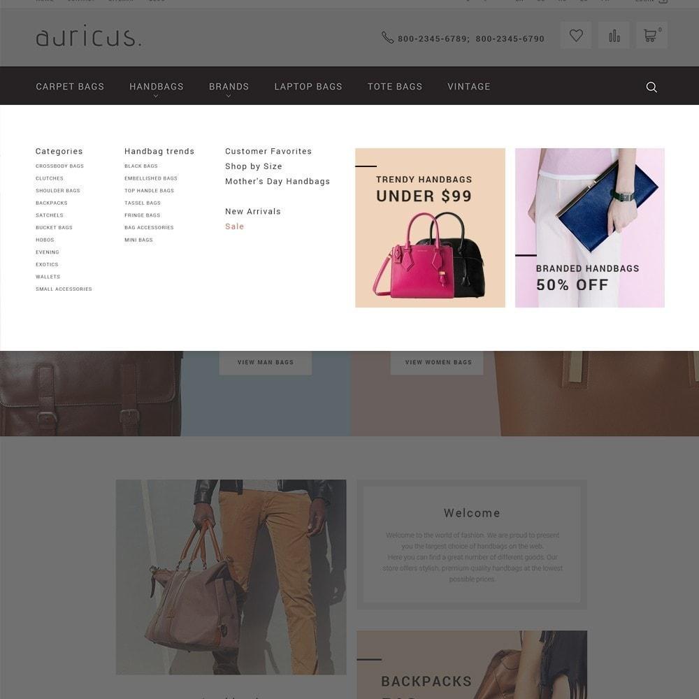 theme - Мода и обувь - Auricus - шаблон по продаже сумок - 3