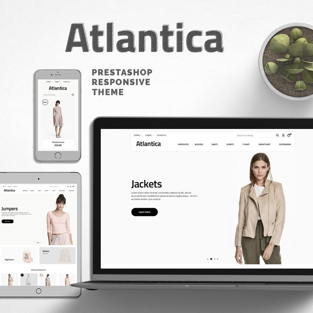 theme - Fashion & Shoes - Atlantica Fashion Store - 1